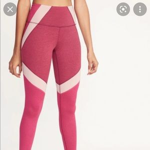 Old Navy High Rise Compression leggings colorblock